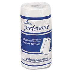 Perforated Paper Towel, 8 4/5 x 11, White, 250/Roll, 12 Rolls/Carton