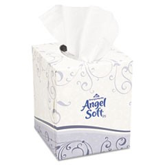 Premium Facial Tissue, 2-Ply, White, Cube Box, 96 Sheets/Box
