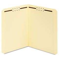 Earthwise Manila Top Tab Fastener Folder, Straight, Letter, 50/Box