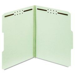 "Earthwise Heavy-Duty Pressboard Folders, 1/3 Cut, Letter, Green, 3"" Exp., 25/Box"