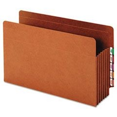 Heavy-Duty Expanding File Pocket, End Tab, 5 1/4 Inch, Legal, Brown, 10/Box