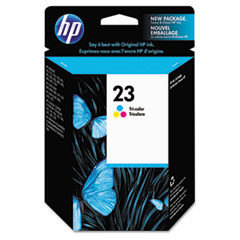 HP 23, (C1823D) Tri-color Original Ink Cartridge