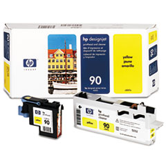 HP 90, (C5057A) Yellow Printhead & Cleaner