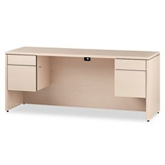 10500 Series Kneespace Credenza w/3/4-Height Pedestals, 72w x 24d, Natural Maple