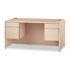 10700 Series Desk, 3/4 Height Double Pedestals, 60 x 30 x 29 1/2, Natural Maple