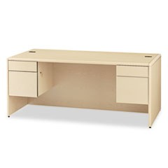 10700 Series Desk, 3/4 Height Double Pedestals, 72 x 36 x 29 1/2, Natural Maple
