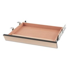 Laminate Angled Center Drawer, 22w x 15.38d x 2.5h, Natural Maple