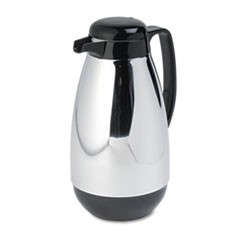 1Vacuum Glass Lined Chrome-Plated Carafe, 1L Capacity, Black Trim