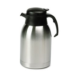 1Stainless Steel Lined Vacuum Carafe, 1.9L, Satin Finish/Black Trim