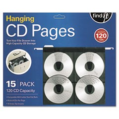 1Hanging CD Pages, 15/Pack
