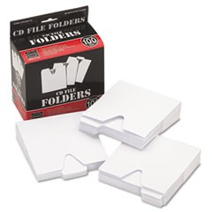 1CD File Folders, 100/Pack