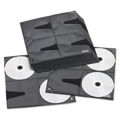 1Two-Sided CD Refill Pages for Three-Ring Binder, 25/Pack