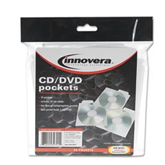 1CD/DVD Pockets, 25/Pack