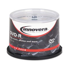 1DVD-R Discs, 4.7GB, 16x, Spindle, Silver, 50/Pack