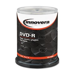 1DVD-R Discs, 4.7GB, 16x, Spindle, Silver, 100/Pack