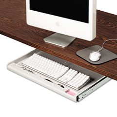 "Standard Underdesk Keyboard Drawer, 21.38""w x 12.88""d, Light Gray"