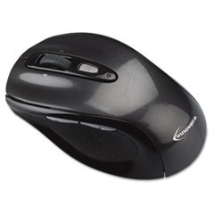 Wireless Optical Mouse with Micro USB, 2.4 GHz Frequency/32 ft Wireless Range, Left/Right Hand Use, Gray/Black