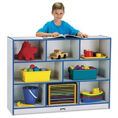 Rainbow Accents Single Storage Units, 48w x 15d x 35-1/2h, Blue/Freckled Gray