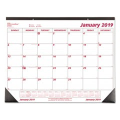 Monthly Deskpad Calendar, Chipboard, 22 x 17, 2019