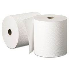 Hard Roll Towels, 8 x 425ft, White, 12 Rolls/Carton