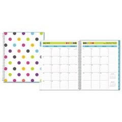 Teacher Dots Academic Year CYO Weekly/Monthly Planner, 8 1/2 x 11, Assorted Dots