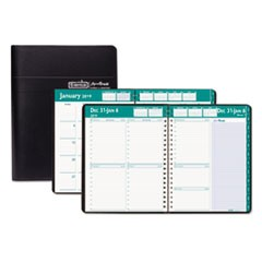 Recycled Express Track Weekly/Monthly Appointment Book, 8.5x11, Black, 2019-2020