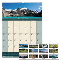 Recycled Landscapes Monthly Wall Calendar, 12 x 16 1/2, 2019