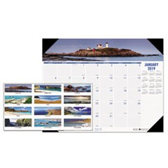 Recycled Coastlines Photographic Monthly Desk Pad Calendar, 22 x 17, 2019