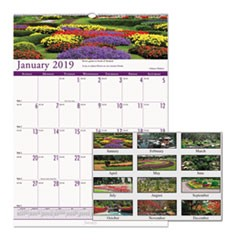 Recycled Gardens of the World Monthly Wall Calendar, 12 x 16 1/2, 2019