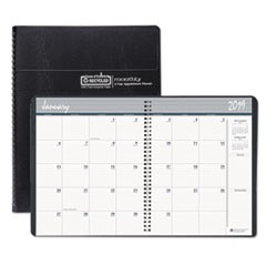 Recycled 24-Month Ruled Monthly Planner, 8 1/2 x 11, Black, 2019-2020