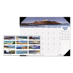 Recycled Coastlines Photographic Monthly Desk Pad Calendar, 18 1/2 x 13, 2019