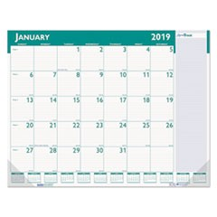 Express Track Monthly Desk Pad Calendar, 22 x 17, 2019-2020