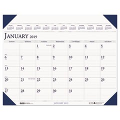Executive Monthly Desk Pad Calendar, 24 x 19, 2019