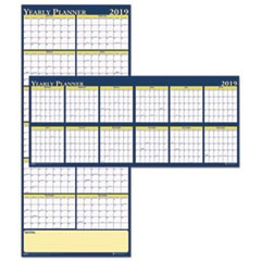 Recycled Reversible Yearly Wall Planner, 60 x 26, 2019