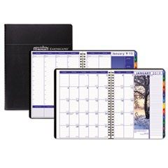 Recycled Earthscapes Weekly/Monthly Planner, 8 1/2 x 11, Black, 2019