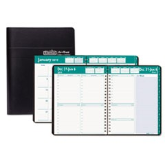 Recycled Express Track Weekly/Monthly Appointment Book, 5 x 8, Black, 2019-2020