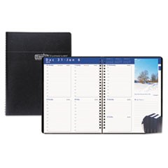 Recycled Earthscapes Weekly Appointment Book, 8-1/2 x 11, Black, 2019
