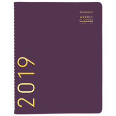Contemporary Weekly Monthly Appointment Book, 8 1/4 x 10 7/8, Purple, 2019