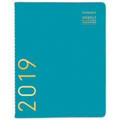 Contemporary Weekly Monthly Appointment Book, 8 1/4 x 10 7/8, Teal, 2019