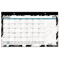 Madrid Desk Pad, 22 x 17, Black-and-White Design, 2019