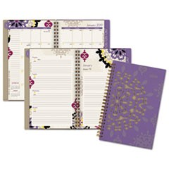 Vienna Weekly/Monthly Appointment Book, 4 7/8 x 8, Purple, 2019