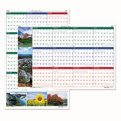Recycled Earthscapes Nature Scene Reversible Yearly Wall Calendar, 32 x 48, 2019