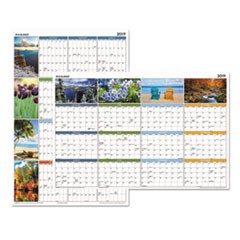 Seasons in Bloom Vertical/Horizontal Erasable Wall Planner, 24 x 36, 2019