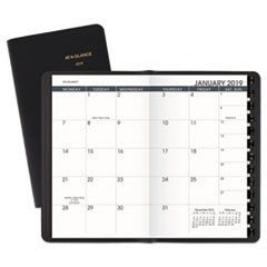 Pocket-Size Monthly Planner, 3 1/2 x 6 1/8, White, 2018-2019