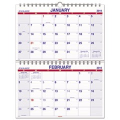 Move-A-Page Two-Month Wall Calendar, 22 x 28 1/2, Move-A-Page, 2019