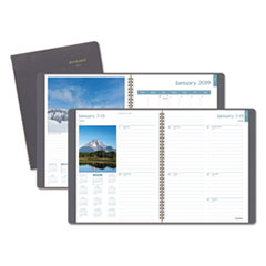 DayMinder Scenic Planner, 8 1/4 x 10 7/8, Gray, 2019