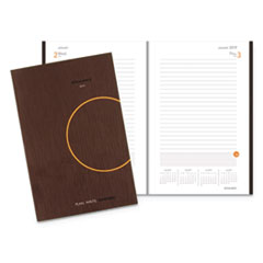 One-Day-Per-Page Planning Notebook, 6 x 9, Dark Gray/Orange, 2019