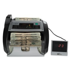 Electric Bill Counter w/Counterfeit Detection & External Display,1000 Bills/Min