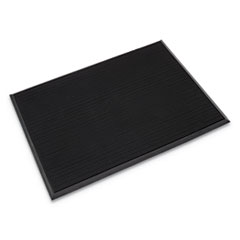 Mat-A-Dor Entrance/Antifatigue Mat, Rubber, 36 x 72, Black