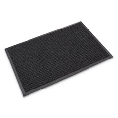 Super-Soaker Wiper Mat with Gripper Bottom, Polypropylene, 46 x 72, Charcoal